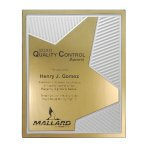 Grooved Brilliance Plaque Employee Awards