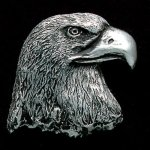 Eagle Head Pewter Accent Patriotic Awards