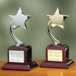 Shooting Star on Piano Finish Base Patriotic Awards