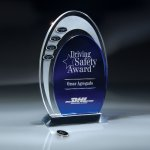 Blue and Optic Crystal Arches Sales Awards