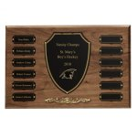 Cast Bronze Trim Perpetual Plaque Sales Awards