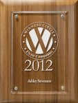 Lasered Lucite on Bamboo Board Secretary Gift Awards