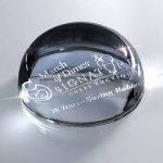 Glass Domed Paperweight Secretary Gift Awards